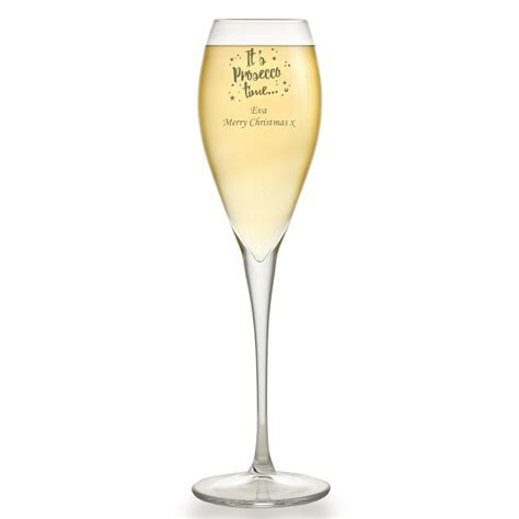 Personalised It's Prosecco Time Glass