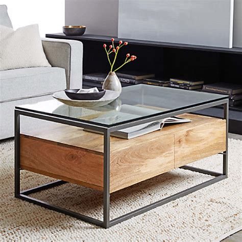 west elm coffee table storage buy west elm industrial storage box frame coffee table