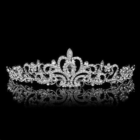 wedding tiaras and crowns bridal princess austrian crystal tiara wedding crown veil