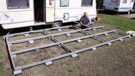 pavillon unterbau wohnwagen vorzelt unterboden
