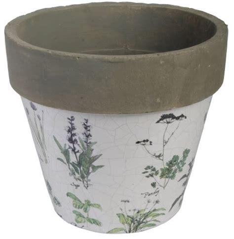 10 inch ceramic flower pots esschert design usa herb print 10 inch