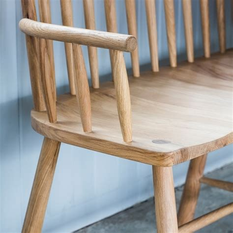 loveseat bench alpine contemporary spindle back oak loveseat bench hall bench