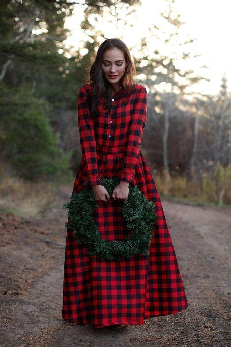 snow ball maxi buffalo plaid skirt by shabby apple best