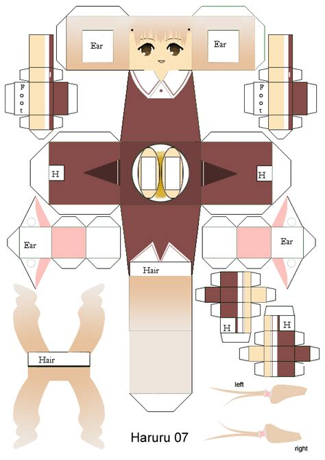 Papercraft Templates Anime - printable paper crafts anime templates