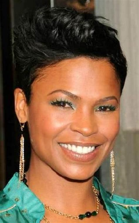 how to style hair like nia long nia long short hairstyles