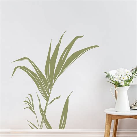 leaf wall stickers 28 palm leaves wall decal tropical palm leaf stem wall decal sticker tropical leaf wall