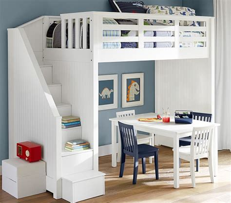 white loft bed with desk and stairs loft bed with stairs for furniture ideas