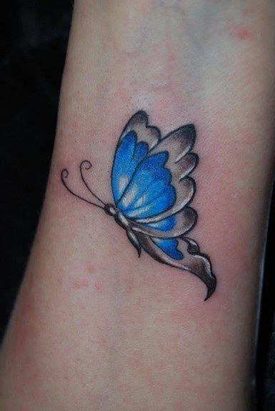 little blues tattoos blue butterfly on wrist blue