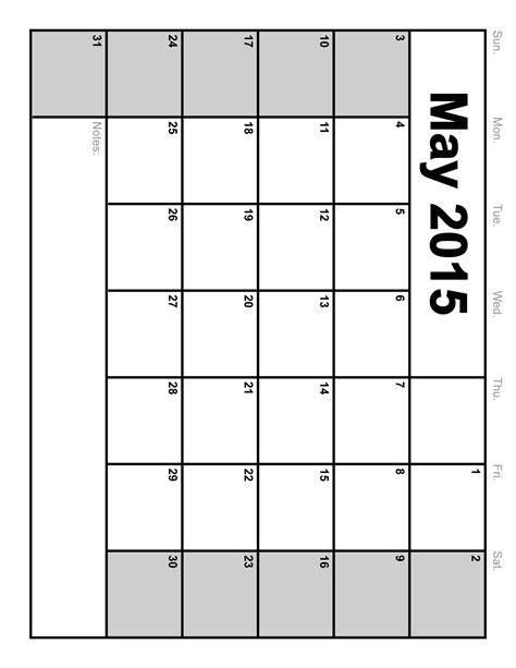 may 2015 calendar printable blank calendar 2015 template