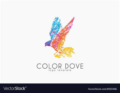 dove color color dove logo dove logo bird logo design vector image