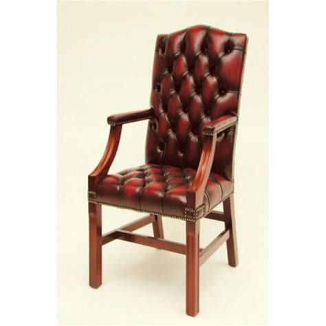 Gainsborough Traditional Leather Carver Chair With Arms Leather Carver Dining Chairs