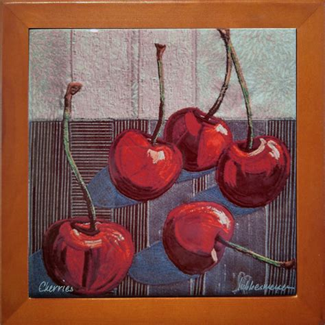 painting on ceramic tile craft cherries fall 2016 edition lubbesmeyer art studio gallery