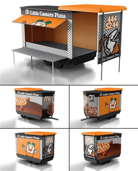 food truck design app little caesars pizza food truck design on behance