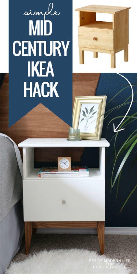 ikea besta nightstand remodelaholic easy mid century ikea tarva nightstand hack