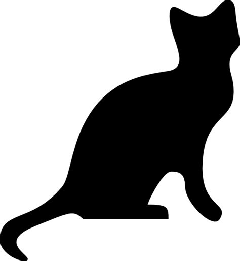 free clipart silhouette cat silhouette clip at clker vector clip