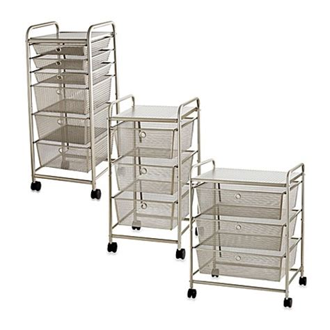 metal kitchen cart with drawers rolling metal cart with drawers bed bath beyond