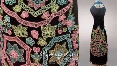 Stelan Mukena Kerancang Khas Bukittinggi koleksi mukena bordir sulam kerancang khas kota bukittinggi