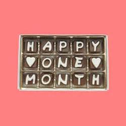 Happy One Month Cubic Chocolate Letters From What Candy Says