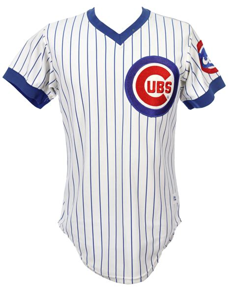 lot detail 1982 mel chicago cubs worn home