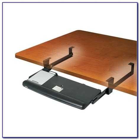 Under Desk Keyboard Drawer With Mouse Tray   Desk : Home