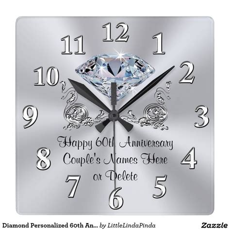 75 best images about 60th anniversary gifts personalized on wedding dj diamonds and