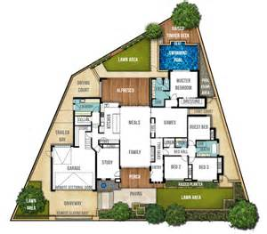 home planning single storey split level house plan quot the carine quot boyd