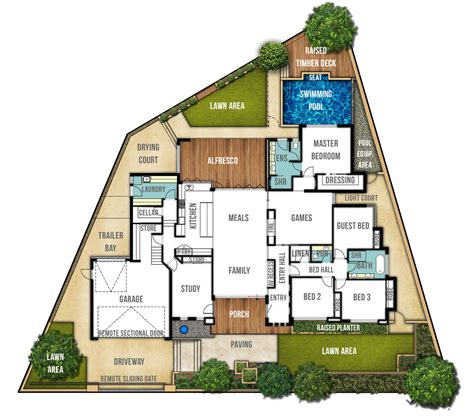 single storey split level house plan quot the carine quot boyd