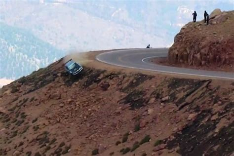 drive up pikes peak falling cars falling records and falling snow at 2012