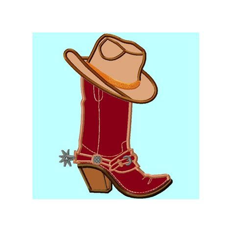 boot hat cowboy boot and hat applique lunastitches
