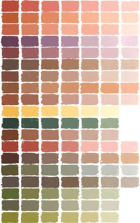 earthy colours soft pastel color chart