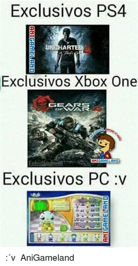 Tado Meme - exclusivos ps4 und exclusivos xbox one gearrs eland