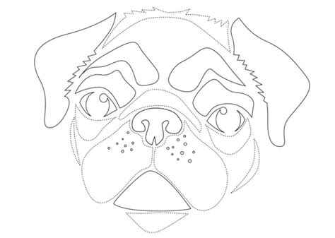 pug stencil go with these animal pumpkin carving stencils