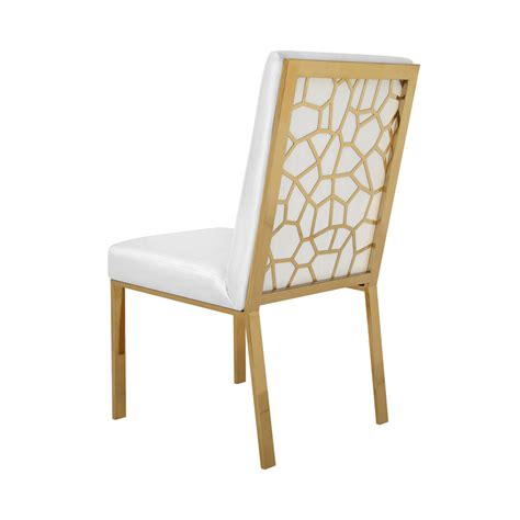 Gold Dining Chairs Wellington White With Brushed Gold Dining Chair Xcella