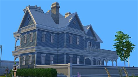 blue victorian house sims 4 blue victorian house by ramborocky on deviantart