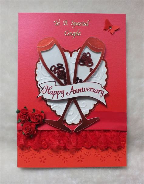Handmade Ruby Wedding Cards - handmade ruby wedding anniversary card by mandishella