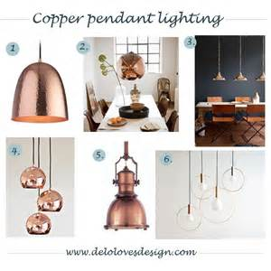 pendant lighting copper finish delo loves design