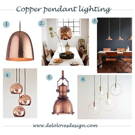 Dining Room Pendant Pendant Lighting Copper Finish Delo Loves Design