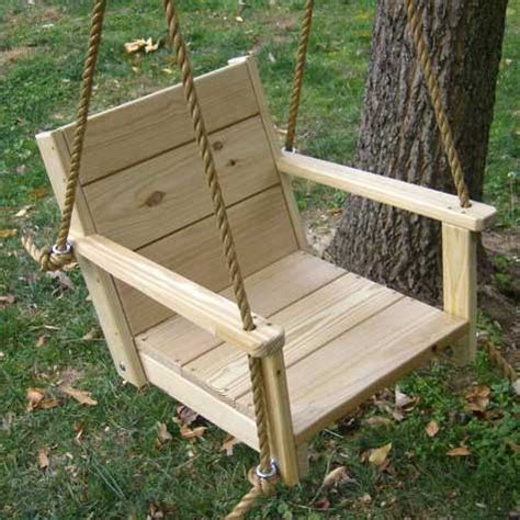wooden swing chairs wood swings co engravable wooden rope adult swing chair