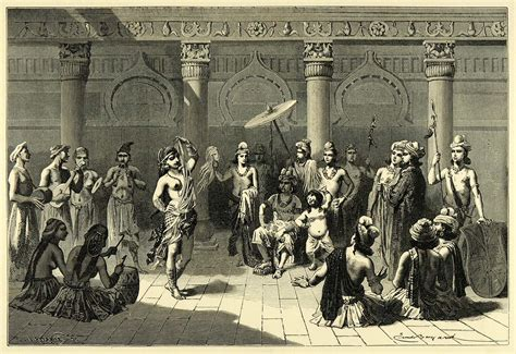 Indian Court Search File A Vision Of Ancient Indian Court Using Motifs From Sanchi Wood Engraving