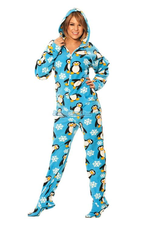 Footed Sleepers For Adults by Penguins Hooded Footed Pajamas Pajamas Footie Pjs