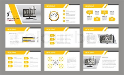 company powerpoint templates set of presentation template use in annual report