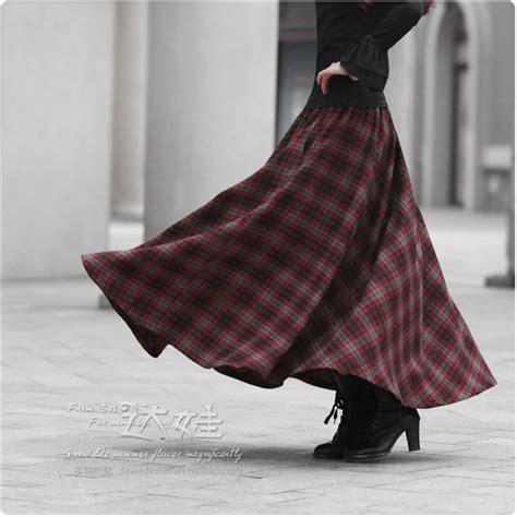Tartan Umbrela Skirt wholesale and retail 2014 autumn and winter plaid