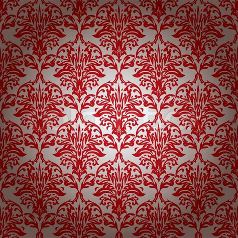 Red and silver repeating wallpaper design with gradient