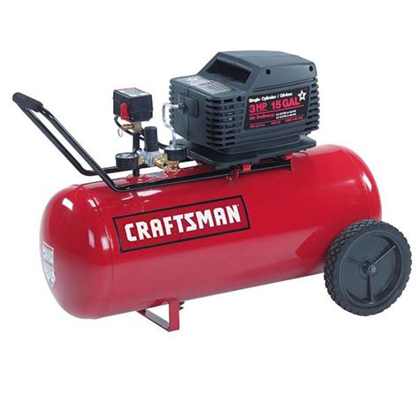 craftsman 16724 15 gal air compressor 1 5 hp umc horizontal tank free sears