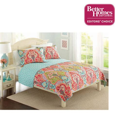 better homes and gardens quilt collection jeweled damask