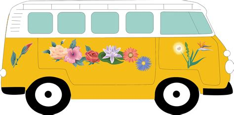 volkswagen bus painting van clipart png www pixshark com images galleries with