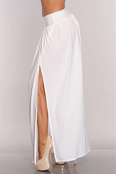 white maxi skirt with split 2014 2015 fashion