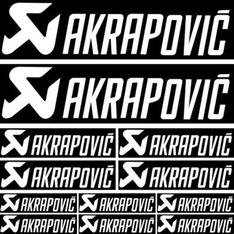Felgenaufkleber Akrapovic by Wandtattoos Folies Akrapovic Aufkleber Set