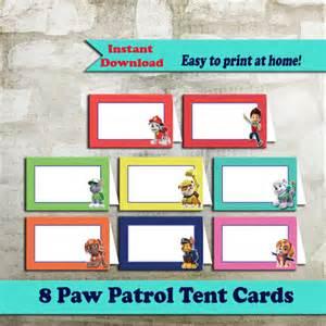 paw patrol food tent cards paw patrol food by