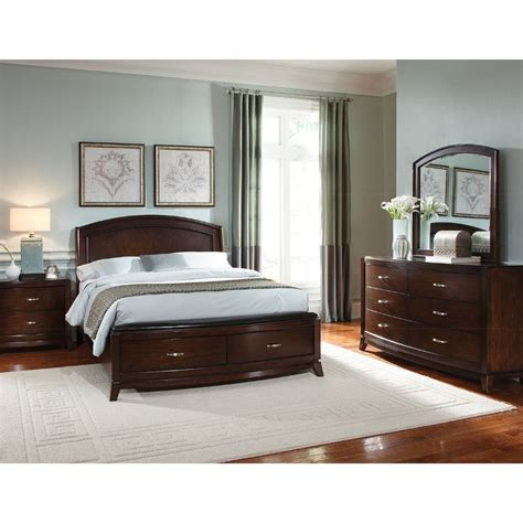 Avalon Brown 6 Piece Queen Bedroom Set Rcwilley Image1 800 Jpg Bedroom Furniture Sets